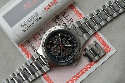 Alba by Seiko Hot Gear Circuit Chronograph Dancing Hands V681-6000 1992 APAX009