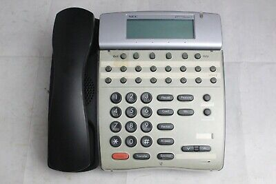 Lot Of 10 Nec Dtr-16d Black 16-button Display Business Office Phones