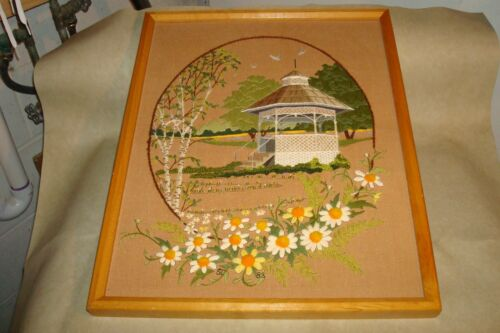 Vintage Sunset Designs, SUMMER IN THE PARK, Finished 16x20 Embroidery Kit
