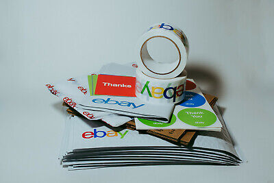78 Ebay Branded Shipping Supplies Kit Boxes Envelopes Tape Tissue Postcards More