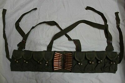 CHINESE MILITARY SKS TYPE 56 SEMI AMMO CHEST-RIG BANDOLIER POUCH 7.62x39