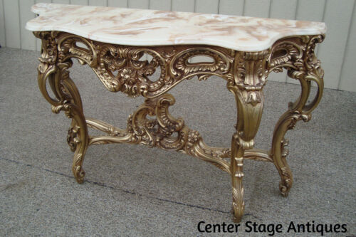 60950 French Country  Decorator Console Hall Table Stand