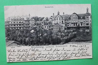 AK Schömberg 1907 Sanatorium Hausansicht Wintergarten Gebäude Häuser W4 ()