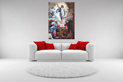 Jesus Ascension (Jesus Christ Ascension Canvas Giclee Print Unframed Picture Home Decor Wall)