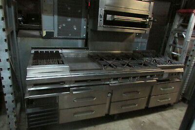 Jade Range Custom 72 Gas Chef Line Complete With 6 Burner Range.