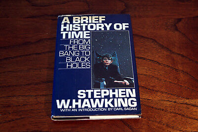 Stephen Hawking A Brief History Of Time Us 1St Edition 1988 Hardcover Dustjacket