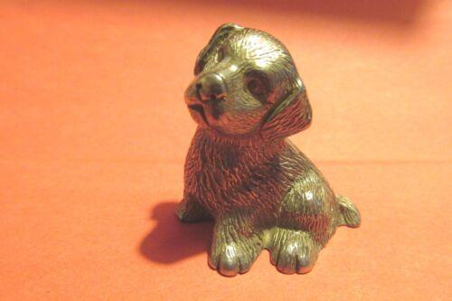 Pewter Golden Retriever  Dog Figurine