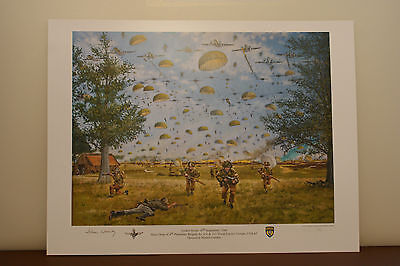 WW2 Veteran Signed Operation Market Garden 70th Commemorative Print  John Waddy