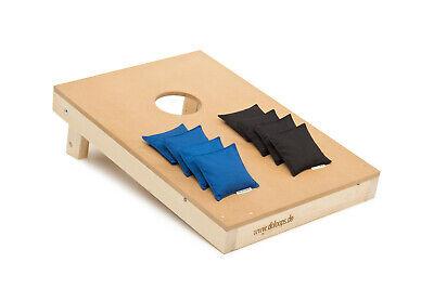 Original Cornhole Set  -  Spielset mit 1 Board + 4 schwarze und 4 blaue
