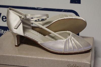 Gold Satin Schuhe (GOLDMARIE ROSE BRAUTSCHUHE HOCHZEITSSCHUHE ABENDSCHUHE SATIN Gr 41 Neu)