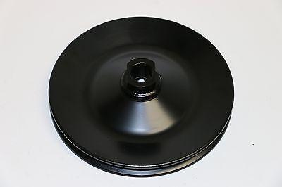 GM Black Single Groove Power Steering Pump Pulley Key Way SBC BBC Chevy 350 454