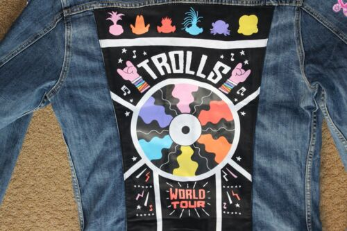 Rare Trolls World Tour Movie Jacket Collectable Patches Promo Promotional