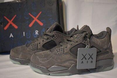 *NEW*MEN'S Nike Mens Air Jordan 4 Retro KAWS Cool Grey/White 930155-003 SIZE 8.5