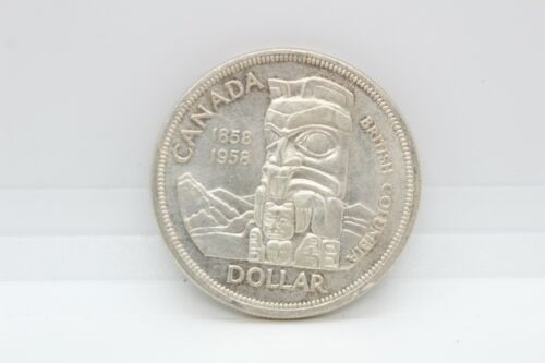 1958 Canada Silver 1 Dollar Coin - 80 Silver, 0.6 Troy Oz ASW H  - $17.55
