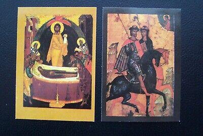 Russian Religious Icon 1992 Calendar Cards
