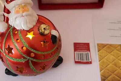 Home Reflections Decor Large Light Up Color Changing Santa Bulb