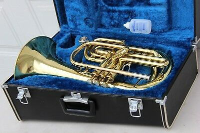 Yamaha YBH301M Horn YBH 301 LACQUERED Marching Baritone Hard Case & Oil, NICE, used for sale  Phoenix