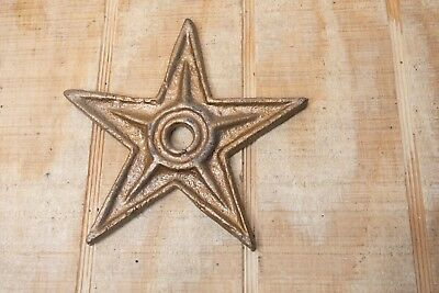 Antique Architectural Decorative Cast Iron Barn Stars 6