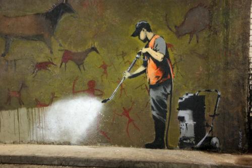 """Banksy, Whitewash, Graffiti Art, Canvas Print, 8""""x12"""""""