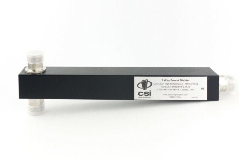 Power Divider 2 way splitter 698-2700 N type high power