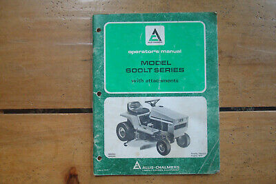 1977 Allis-chalmers Model 600lt Series Garden Tractor Operators Manual