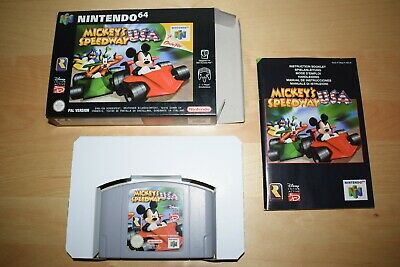 Nintendo 64 *Mickey's Speedway USA* N64 OVP Mint CiB mit Anleitung Kart Selten