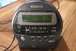 Aiwa Fm/Am Clock Radio Receiver FR-A37 Alarm Clock  AC 120V 60Hz