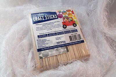 wood CRAFT STICKS 75 pcs w/project idea sheet - Craft Sticks Ideas