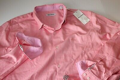 Tommy Bahama Shirt Oasis Twill BT323482 Passion Pink LS New XX-Large Tall 2XLT Tommy Bahama Oasis