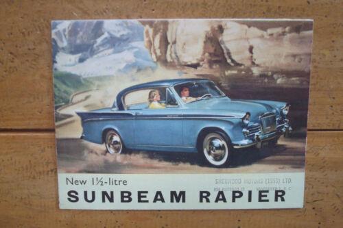 1955 New 1 1/2-Litre Sunbeam Rapier Brochure Small Format
