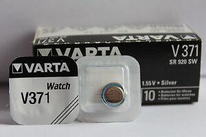 100-x-Baterias-Original-ampolla-VARTA-V371V-371-371-SR-920SW-HASTA-2019