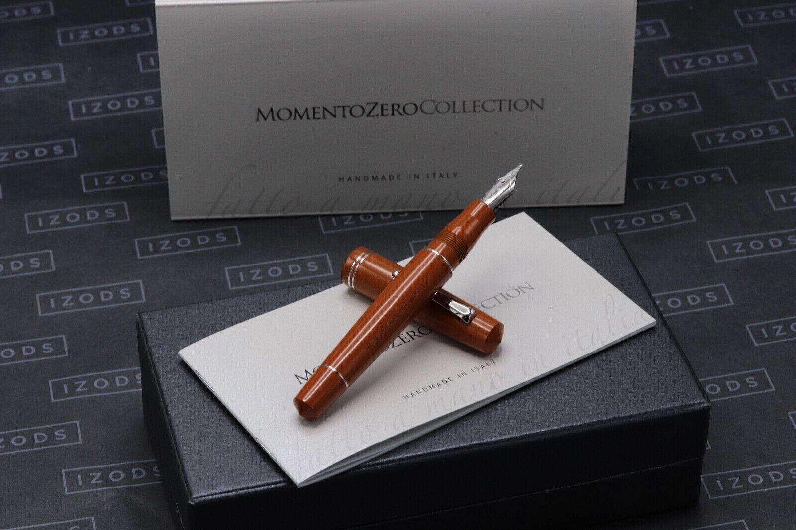 Leonardo Momento Zero Orange Ebonite 1/1 Fountain Pen