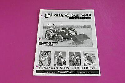 Long Agribusiness Model 5340 Front End Loader Owners Manual.