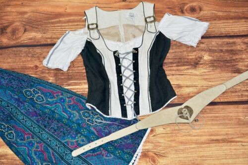 Bavarian blouse Oktoberfest blouse Dirndl blouse Size L Germany Trachten blouse