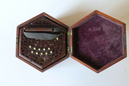 Antique Lachenal & Co London 21 button Concertina