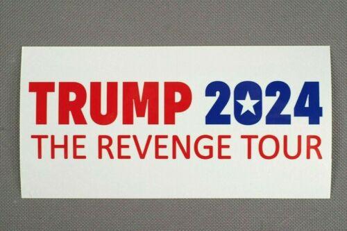 "Trump 2024 The Revenge Tour: New 3"" x 6"" Vinyl Sticker, Made in USA, Ships Free"