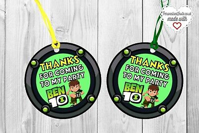 Movie Themes For Parties (20x Ben 10 Tags. For birthday bottles, boxes, gifts etc. Ben 10 themed)