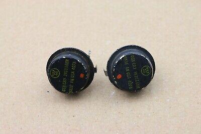 Pair Vintage Westinghouse 2n1016bm 2n1016 Doorknob Transistor