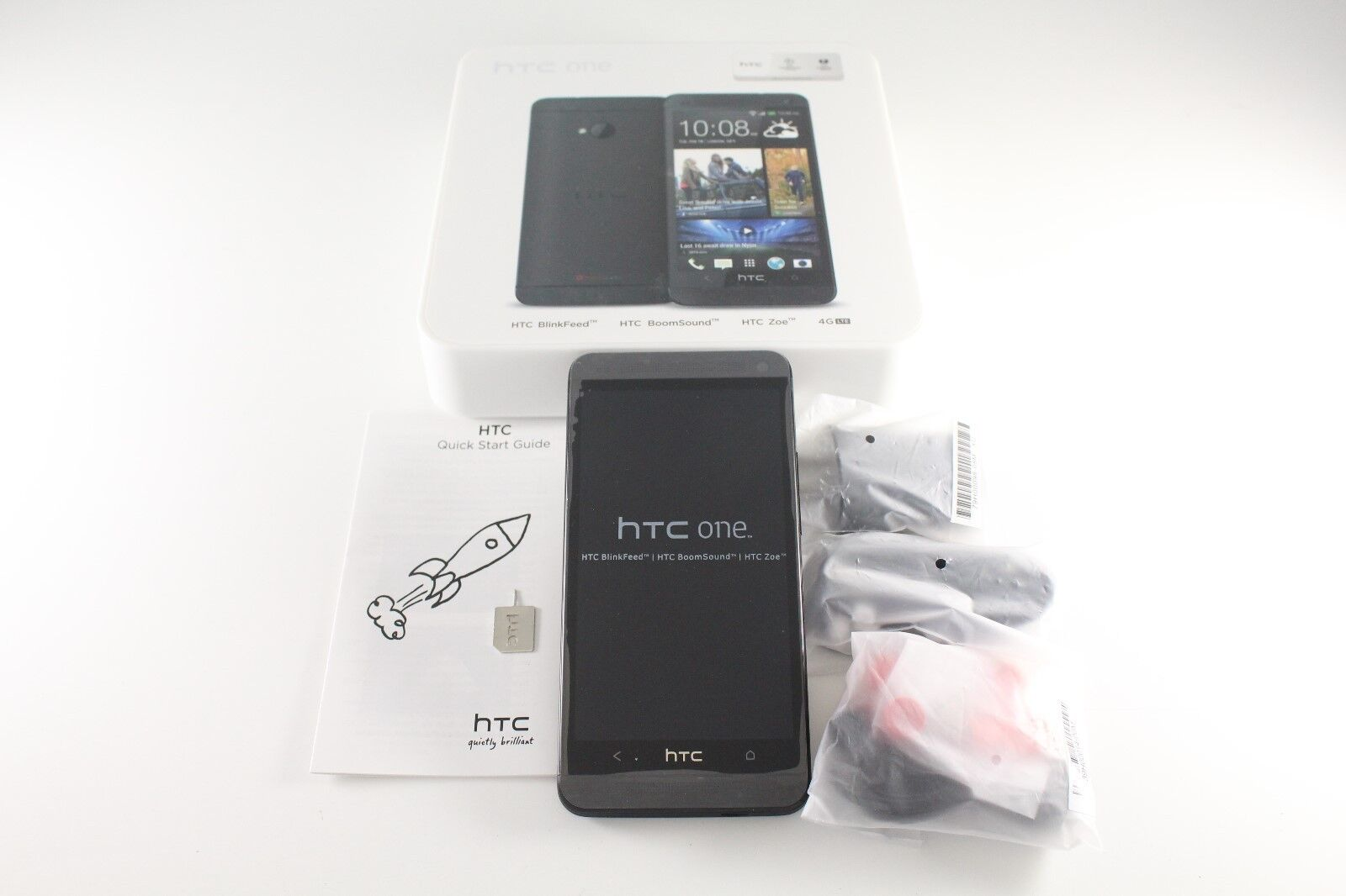 Htc One - New HTC One M7 Black 32GB Android Quad Core LTE WiFi Unlocked GSM Smartphone