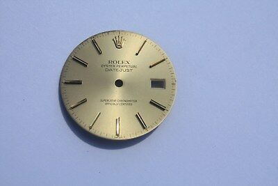Rolex Factory Datejust Champaign dial. Yellow Markers. Nice!  Pre-Owned. 36MM