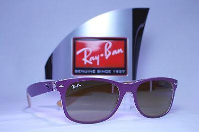 Ray-Ban Wayfarer RB2132 6192/85 Violet/Brown Gradient Sunglasses 55mm Non Polar