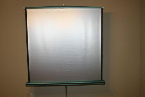 """Da-Lite Silver-Lite 48"""" x 48"""" Tripod Base Retractable Projection Screen"""
