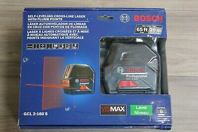 Bosch Gcl 2-160 S 65 Ft. Self-leveling Cross-line Laser With Plumb Points