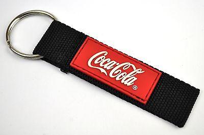 Coca-Cola Coke USA Canvas Schlüsselanhänger Key Chain Ring Keychain - Logo rot
