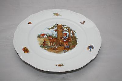 Rotkäppchen Speiseteller Weimar Porzellan 24,5cm 1.Wahl Grimms Märchen Teller