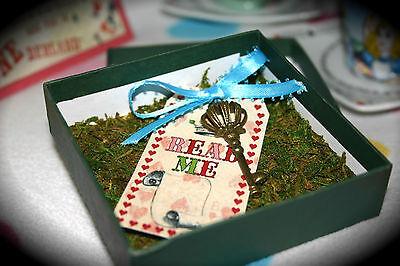 Alice in Wonderland Birthday Wedding Invitation Mad Hatter Tea Party Key Tag Box - Alice In Wonderland Party Invitations