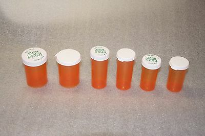 Qty 1   40  New Unused Empty Prescription Rx Pill Bottles  Sm  Med  Large  Fda