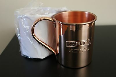 Smirnoff Vodka Moscow Mule Copper Cup, Set of 2, 13 oz ea, new never used