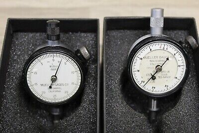 Lot Of 2 Mueller Dial Indicators One B150-1a  One B150-1 In Starrett Boxes Tb2