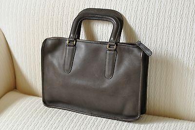 Vtg. 70's NYC COACH Bonnie Cashin Era Olive Brown Leather Satchel Handbag